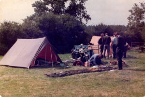 Archival photograph of Ariel club rally
