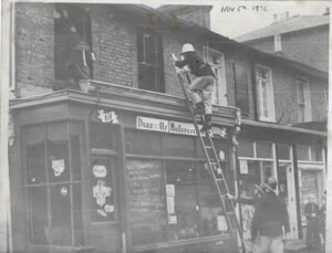 Archival photo of Draganfly store in 70s London