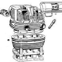 Cylinder barrel, valves, guides