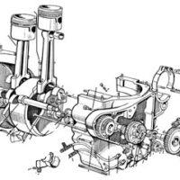 Engine, gaskets, gearbox