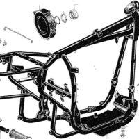 Frame - Footrest - Prop Stand