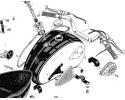 Petrol Tank, Handlebars & Dual Seats