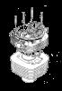 Cylinder block - pistons - crankshaft