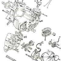 Crankcase and Timing gears