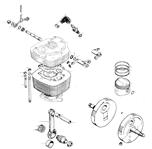 Cylinder and crankshaft