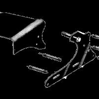 Engine unit fitting & footrests