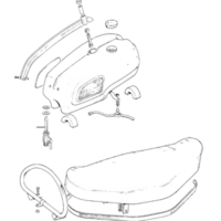 Gas tank and Twin seat