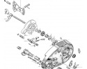 Gear change mechanism / crankcase oiling system
