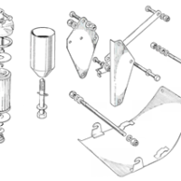 Oil filter and motor fixings