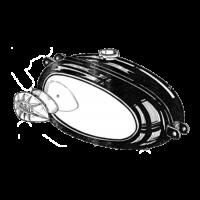 Petrol Tank - Pear badges