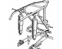 Swinging arm - centre stand - rear brake control