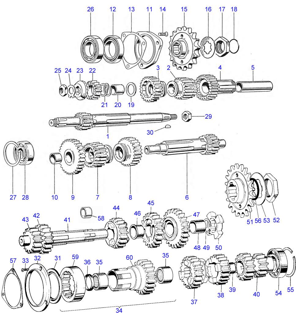 Gearbox shafts